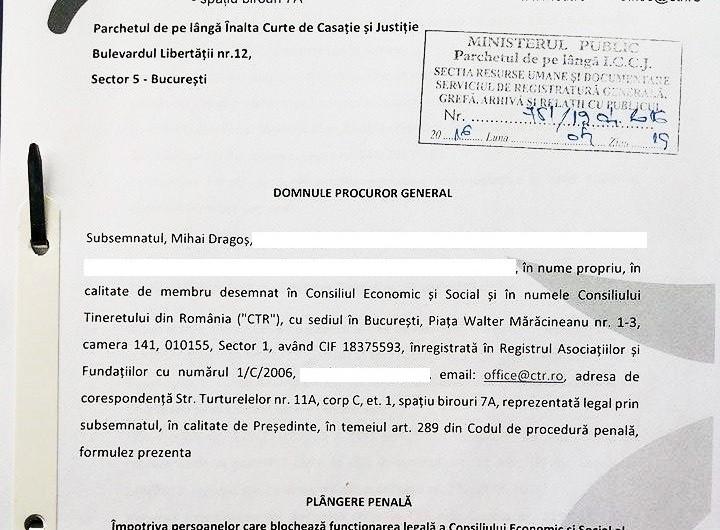 Plangere penala CES - selectie