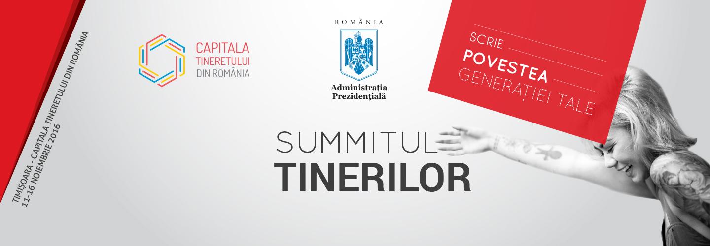 """Înscrie-te la Summitul Tinerilor, Ediția I """"Scrie Povestea Generației Tale""""!"""