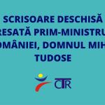 Scrisoare deschisă adresată Prim-ministrului României, domnul Mihai Tudose
