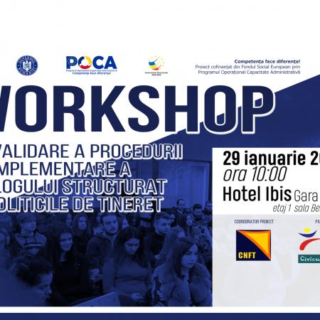 Atelier pentru îmbunătățirea implicării tinerilor în dezvoltarea politicilor publice