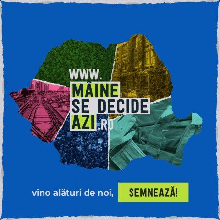 """""""Mâine se decide azi"""", manifestul societății civile pentru o recuperare verde și sustenabilă"""