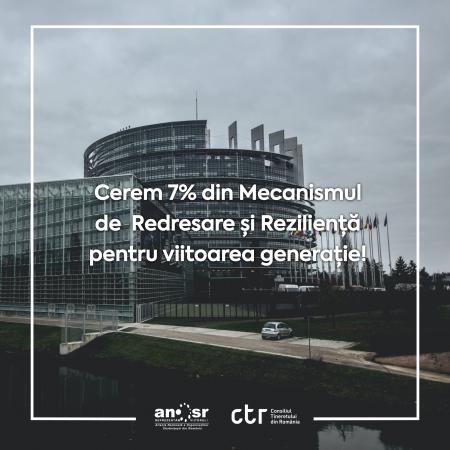 Cerem 7% din Mecanismul de Redresare și Reziliență pentru Viitoarea Generație!