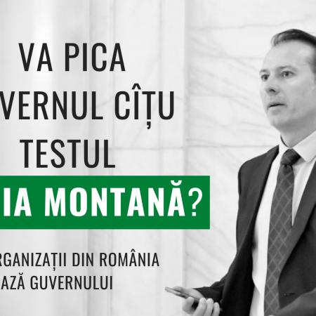 Va pica Guvernul Cîțu testul Roșia Montană?