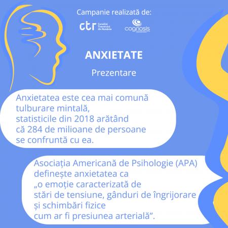 Mental health – trend sau realitate: ANXIETATEA
